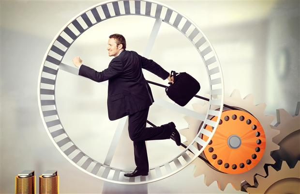 Running on a Hamster Wheel at Work