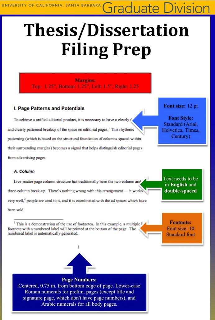 Thesis or Dissertation Prep
