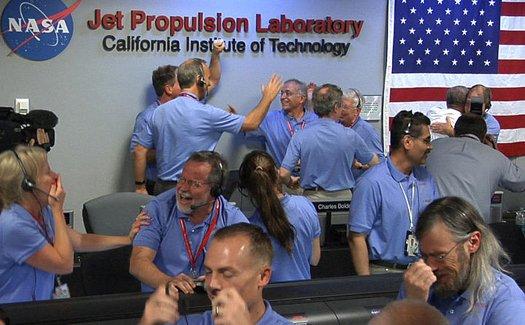 NASA Employees Collaborating
