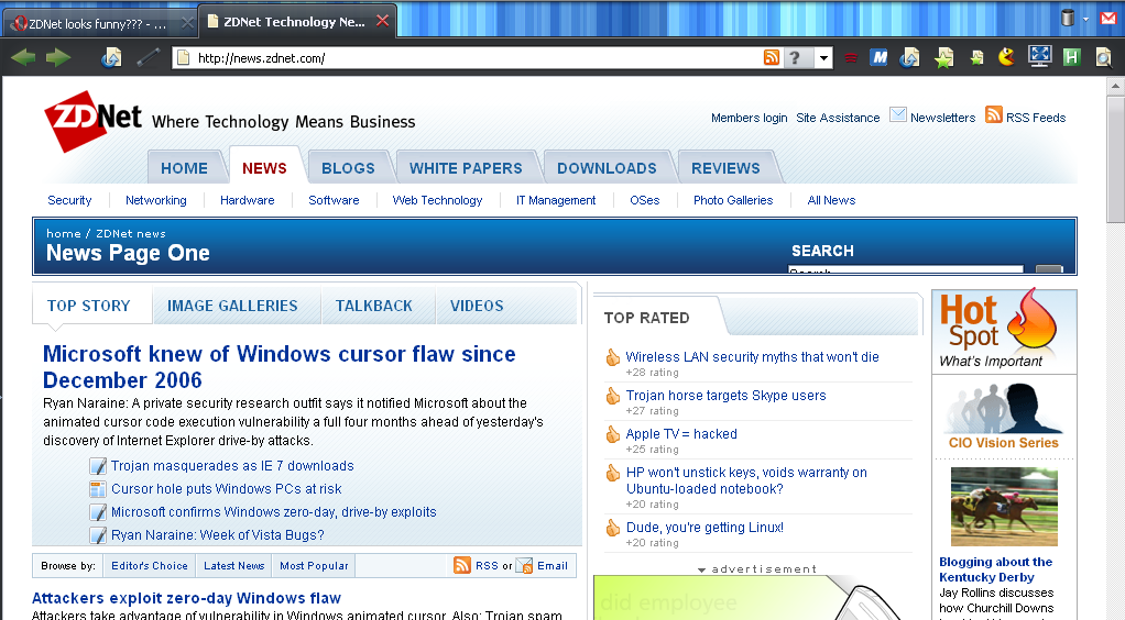 ZDNet Homepage