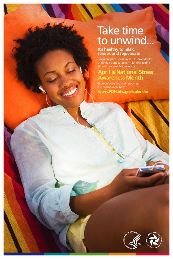 National Stress Awareness Month Poster
