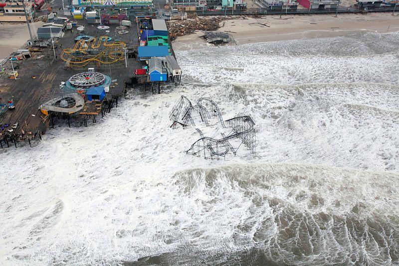 Hurricane Sandy New Jersey Pier