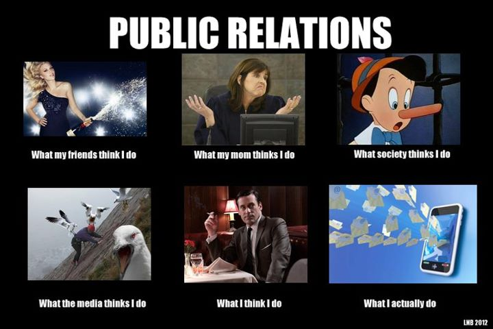 Public Relations: What People Think I Do