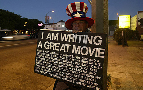 Screenplay Writer on the Street