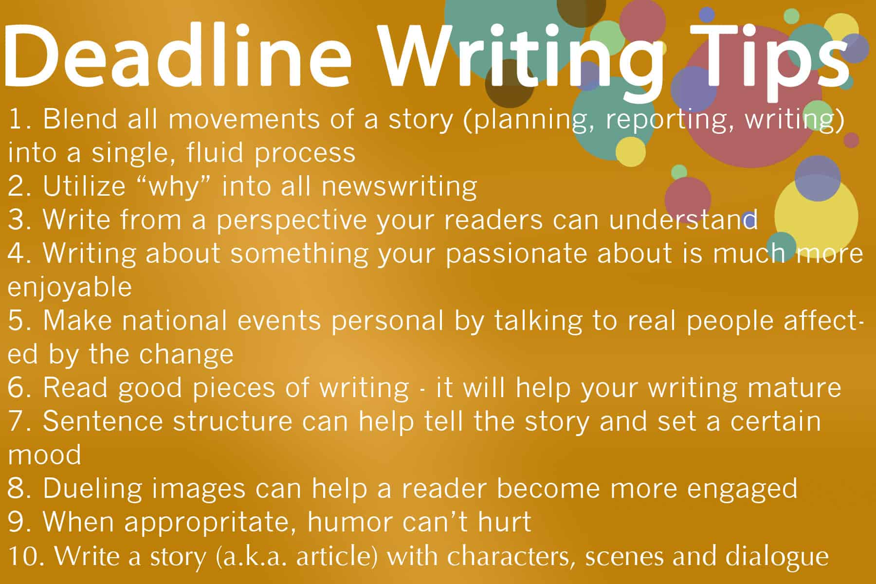 Deadline Writing
